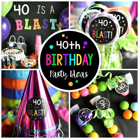 40th birthday party throw a 40 is a blast party