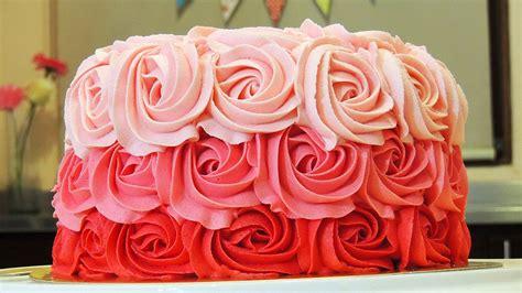 como decorar pasteles con rosas pastel de rosas con bet 218 n de mantequilla ombre rose cake