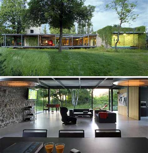 glass houses stones jodlowa house glass house stone tower modern architecture