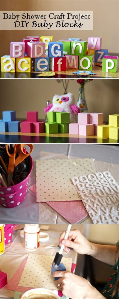 baby shower craft projects baby shower craft idea diy baby blocks