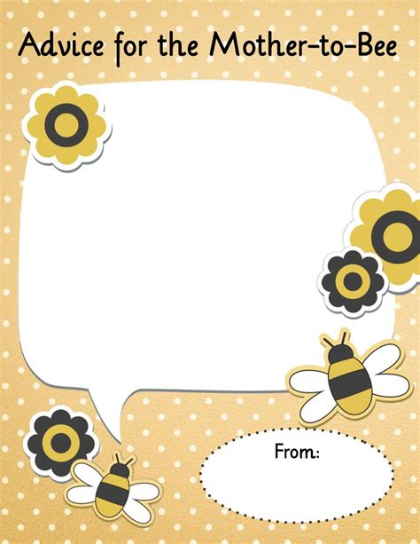 card bee template 69 best baby showers for other folks images on
