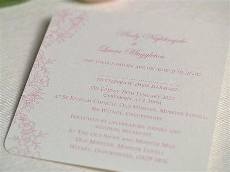 not on the high lace wedding invitations vintage lace wedding invitations by beautiful day notonthehighstreet