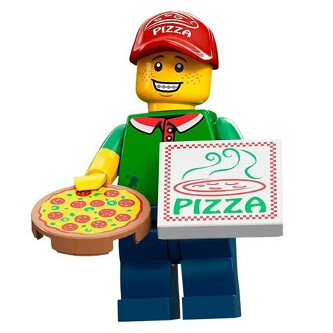 Promo Pizza Delivery Lego Minifigures Series 12 Ggd437 lego minifigures pizza delivery lego series 12