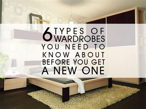Types Of Wardrobes by 6 Wardrobes Types Luxus India