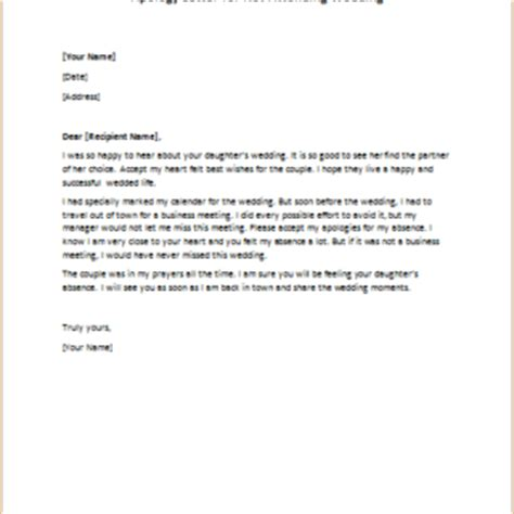 Apology Letter Not Attending Apology Letters Writeletter2