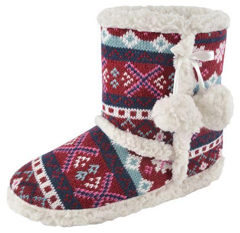 fleece boot slippers womens slipper boots knitted fur fleece booties