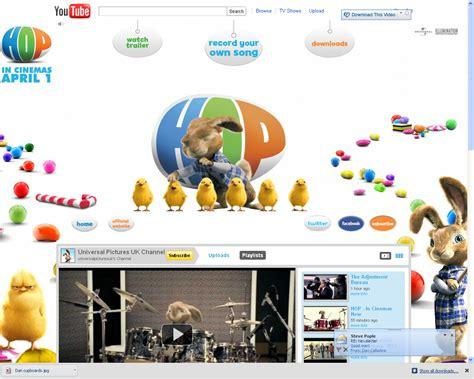 Digital Exles Youtube Microsite For Hop Microsite Template