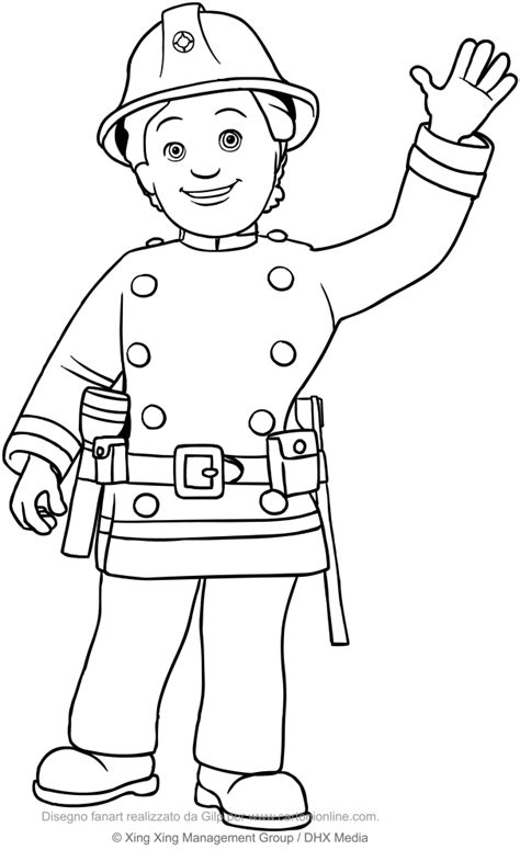 Fireman Sam Coloring Pages by Fireman Sam Coloring Pages Sketch Coloring Page