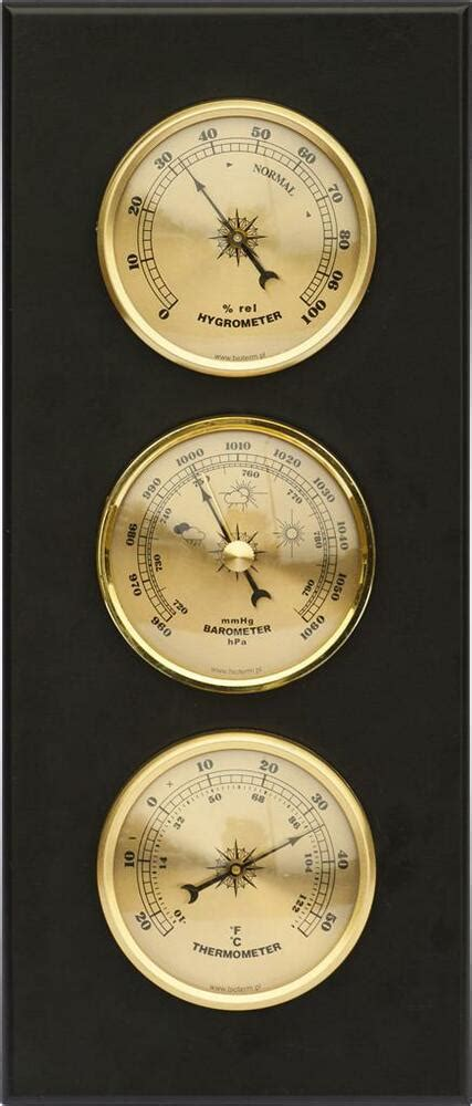 weather station barometer thermometer hygrometer mdf wood