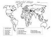 World Map Worksheet by Pics Photos World Map Worksheet
