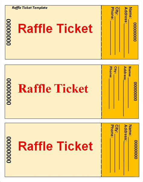office ticket template 12 best baseball softball images on raffle