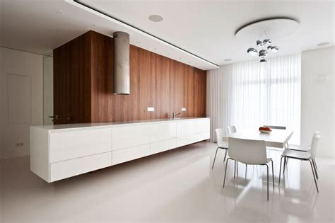 white wood kitchens apartment awash with walnut white