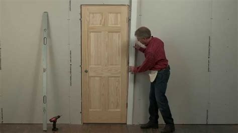 How To Hang Prehung Interior Door Beginners How To For Installing Interior Pre Hung Doors