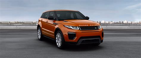 orange range rover evoque range rover evoque convertible colours prices carwow