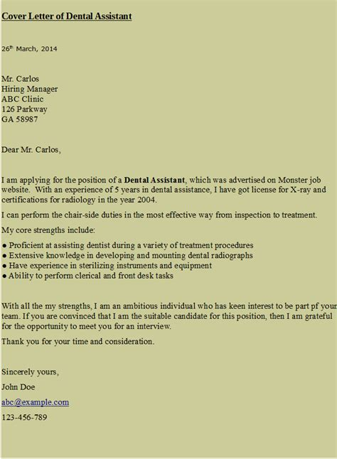 dental hygiene resume cover letter cover letter for dental assistant https hipcv hr