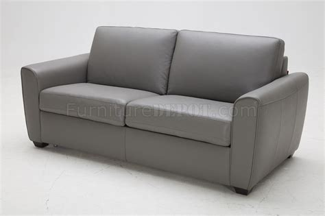 Jasper Premium Sofa Bed In Grey Leather By J M Premium Sofa Bed