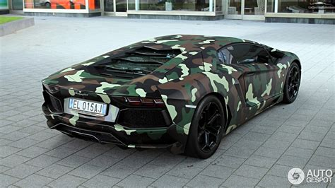 Lamborghini Aventador With Jungle Camouflage Wrap