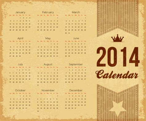 retro  calendar template vector