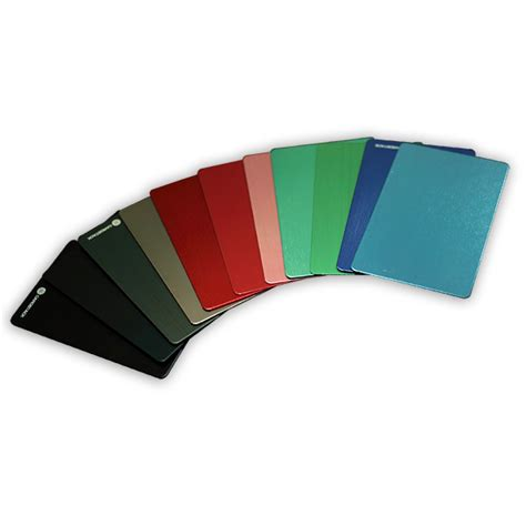 anodized aluminum colors custom colors anodized aluminum cards