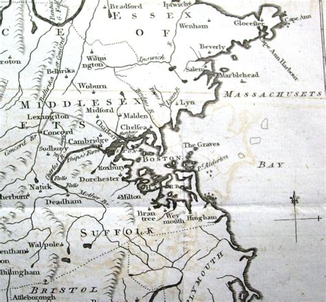 boston map 1775 1775 map of 100 boston