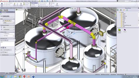 solidworks tutorial tubing creating piping automatically in solidworks youtube
