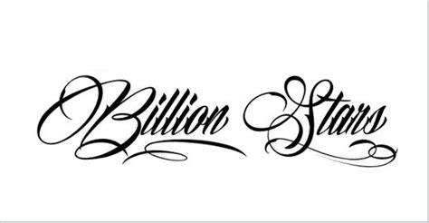 tattoo fonts billion stars 42 best free fonts exles dotcave
