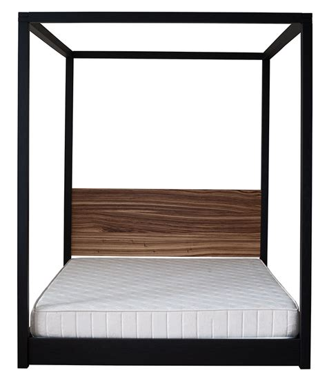 cube modern four poster bed natural bed company zebrano cube 4 poster bed natural bed company