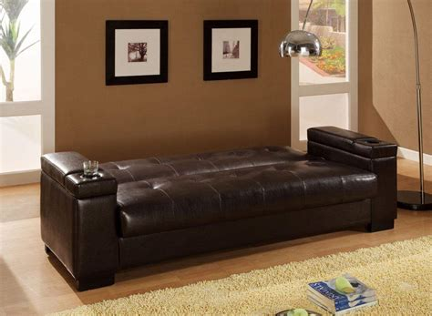 leather sleeper sofa with storage sofa beds faux leather convertible sofa sleeper with
