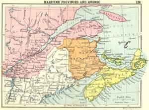 canada maritime provinces and small map 1912