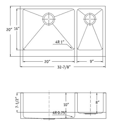 Farm Sink Dimensions by Houzer Stainless Steel Kitchen Sinks