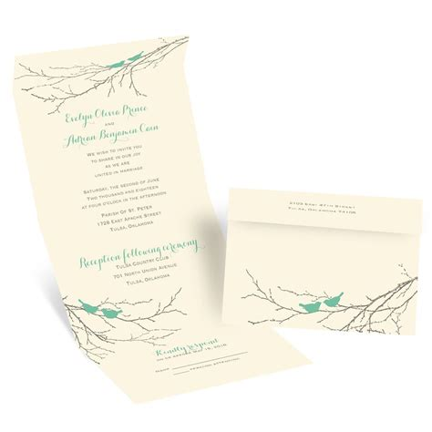 send and seal wedding invitations templates boughs and birds seal and send invitation invitations by
