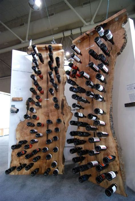 Tree Wine Rack by A Wine Rack Made From A Dead Tree S Trunk Home Crux