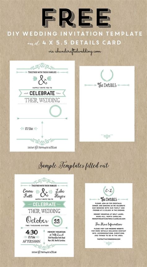 wedding invitations designs templates free 25 unique free invitation templates ideas on