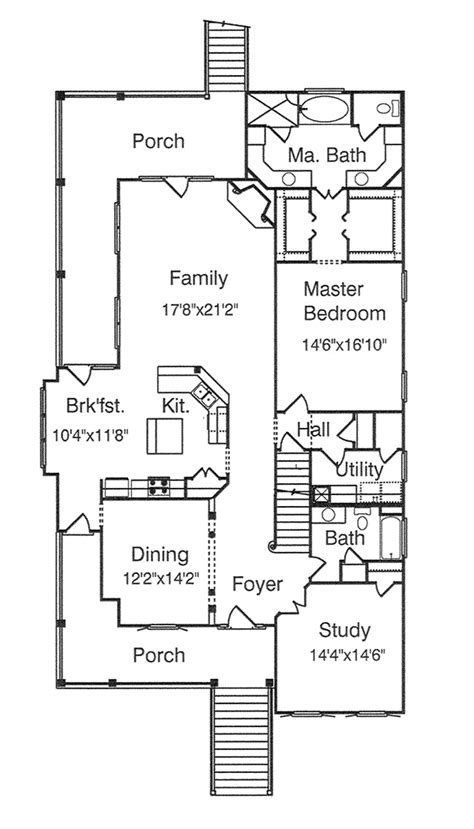 southern style floor plans peterman southern style home plan 024s 0007 house plans and more