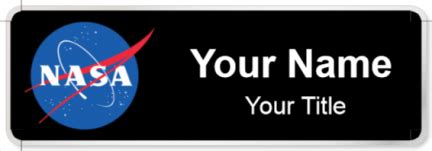printable nasa id card templates nasa name tags namebadge