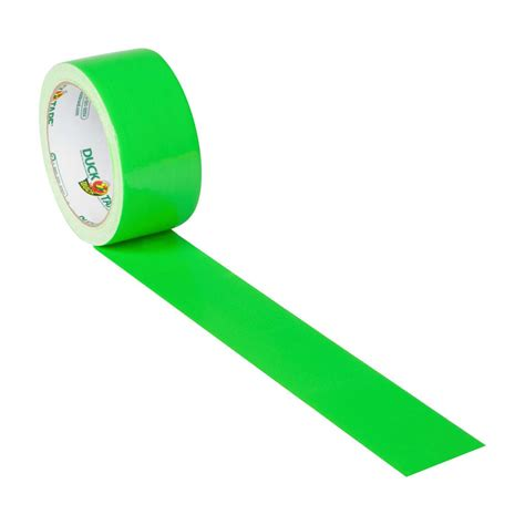 color duct color duct neon green 1 88 in x 15 yd duck brand