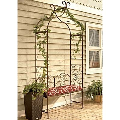 metal arbor with bench metal arched arbor with bench for the home pinterest