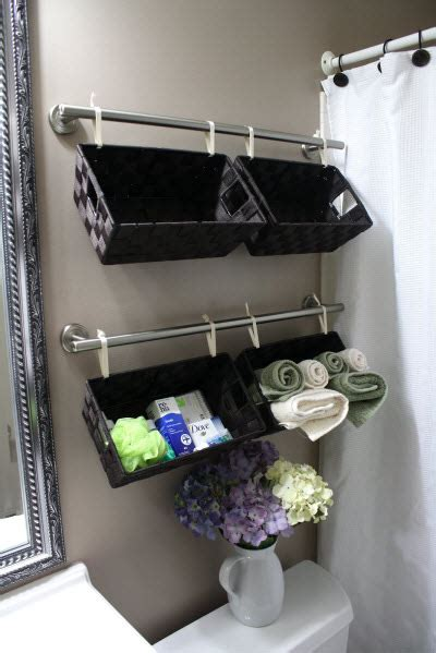 bathroom towel bar ideas towel bar 7 easy yet wonderful diy bathroom organizers