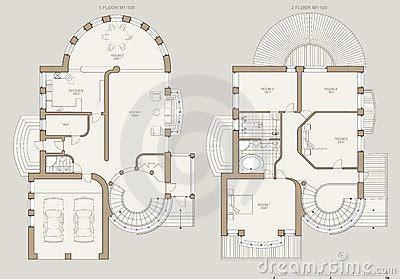 technical drawing house plans house plan technical draw cartoon vector cartoondealer com 5110401