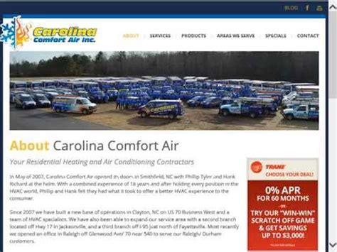 carolina comfort carolina comfort air reviews raleigh nc hvac reviews