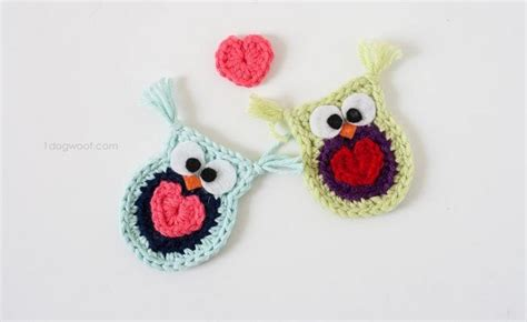 crochet pattern heart applique adorable crochet owl applique with a heart free pattern