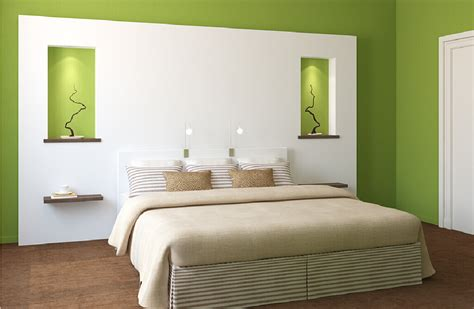 bedroom with white walls 3d green and white walls for minimalist bedroom download