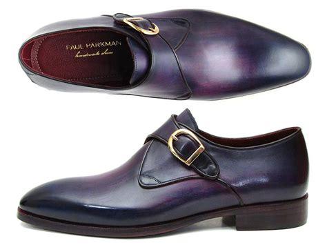paul parkman shoes paul parkman single monkstrap shoes purple leather id