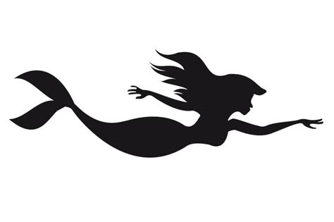 little mermaid silhouette tattoo the mermaid silhouette cliparts co