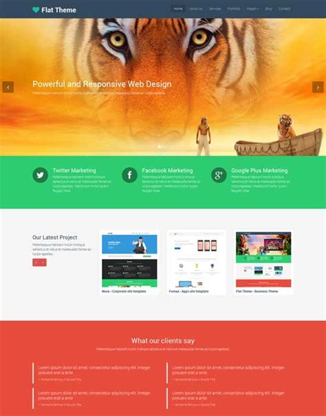50 Best Flat Design Website Templates Free Premium Freshdesignweb Create Website Template