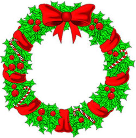 kids art christmas reefs free wreaths clipart wreath animations