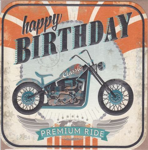 Motorbike Happy Birthday Card   Karenza Paperie