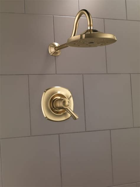 Delta Bronze Shower by Faucet T17t292 Cz In Chagne Bronze By Delta