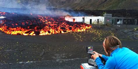 lava flows from fogo in the cape verde islands bury two