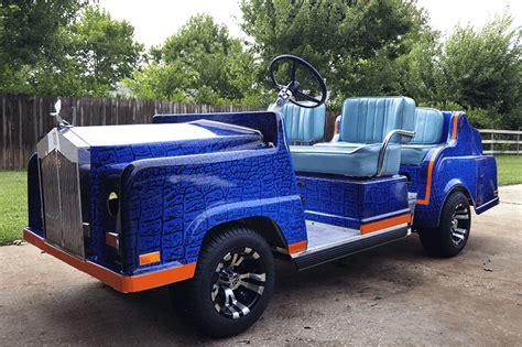 Rolls Royce Golf Cart by Wrapped Up Boat Vehicle Wraps Daytona Florida